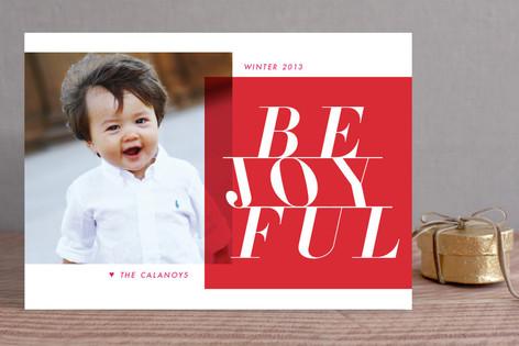 Active Joy Holiday Photo Cards