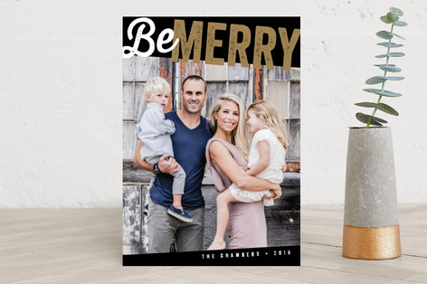 Bold for the Holidays Holiday Photo Cards