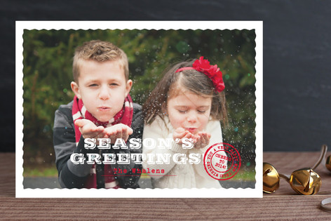 Deckled Post Holiday Photo Cards