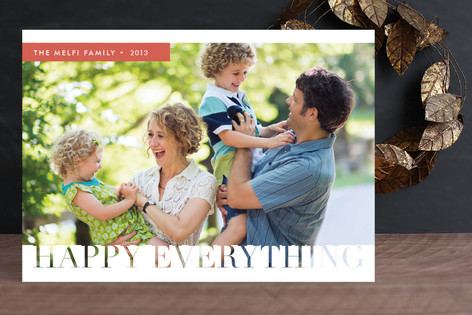 Merrily Modern Holiday Photo Cards
