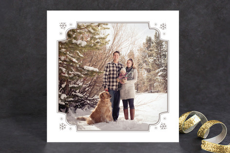 Snowflake Corners Holiday Photo Cards