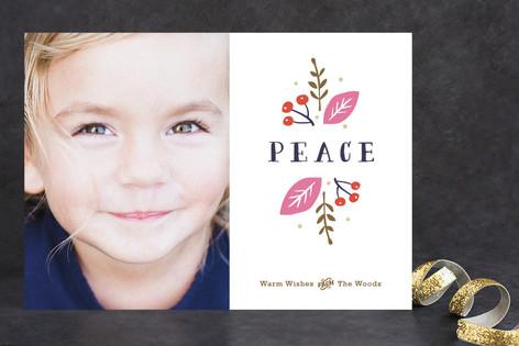 Organic Peace Holiday Photo Cards