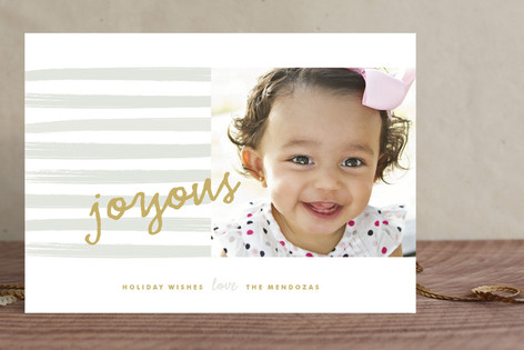 Wet paint Holiday Photo Cards