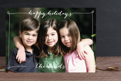 Greeting in a Frame Holiday Photo Cards