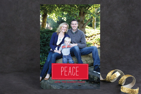 Patchwork Holiday Photo Cards