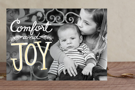 Watercolor Joy Holiday Photo Cards