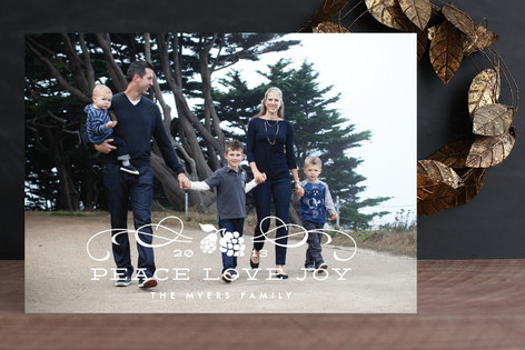 Classic Holiday Swirls Holiday Photo Cards