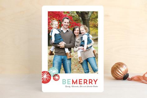Pom Pom Fun Holiday Photo Cards