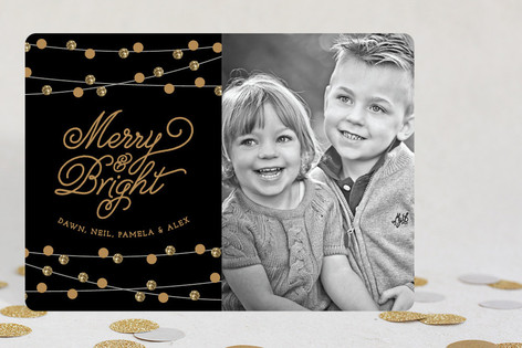 Christmas Twinkle Holiday Photo Cards