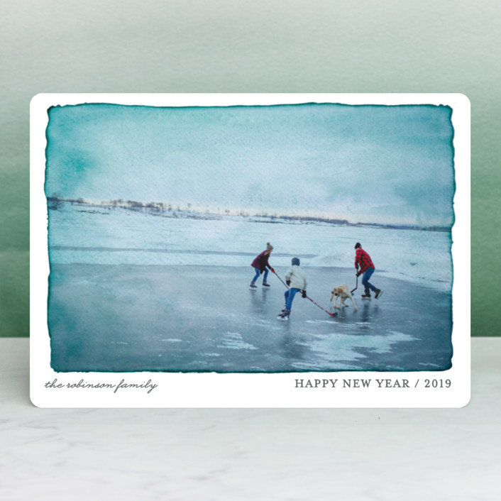 """Aquarelle"" - Holiday Photo Cards in Ash by j.bartyn."