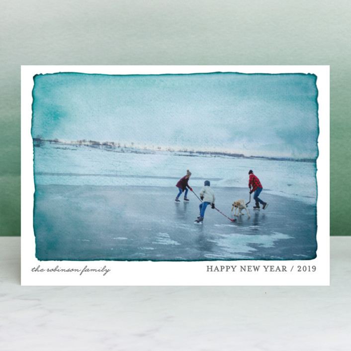 """""""Aquarelle"""" - Modern Holiday Photo Cards in Ash by j.bartyn."""