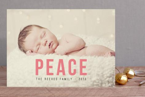 Christmas Peace Holiday Photo Cards