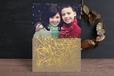 Cheerflake Holiday Photo Cards
