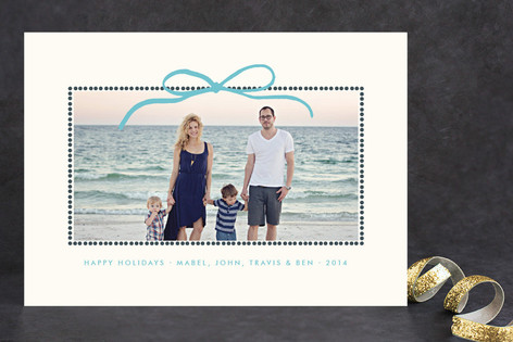 Beribbon Holiday Photo Cards