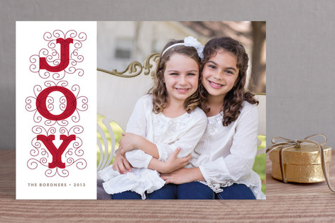 Embellished Joy Holiday Photo Cards