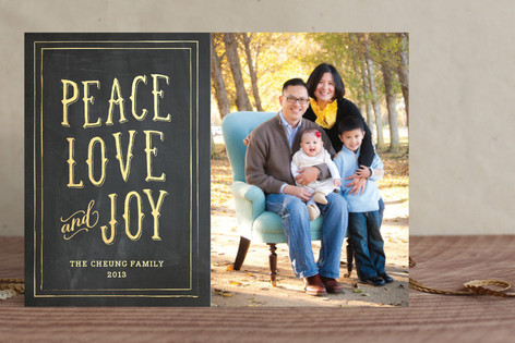 Gilded Tidings Holiday Photo Cards