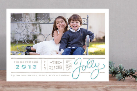 Jolly Typography Holiday Photo Cards