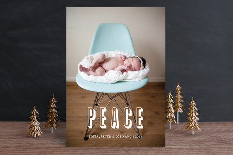 Modern Peace Holiday Photo Cards