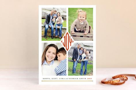Joy Monogram Holiday Photo Cards