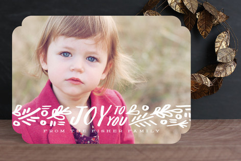 Ribbon of Joy Holiday Photo Cards