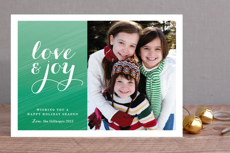 Festive Ombre Holiday Photo Cards