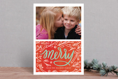 Merry Berry Mix Holiday Photo Cards