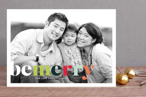 Technicolor Holiday Photo Cards