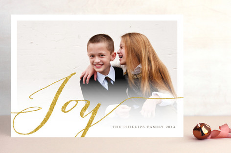 Shimmering Joy Holiday Photo Cards