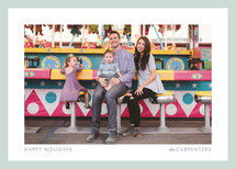 Bright Border Holiday Photo Cards By kelli hall