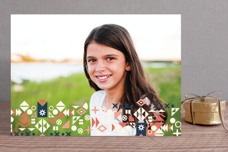 Holiday Shapes Holiday Photo Cards