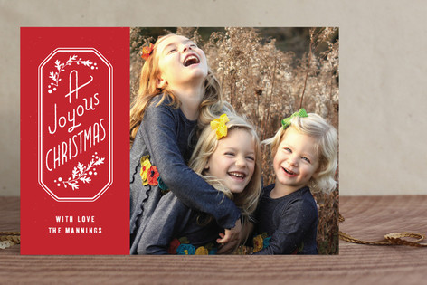 Joyous Frame Holiday Photo Cards
