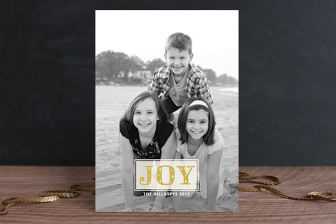 Joy Sparkles Holiday Photo Cards