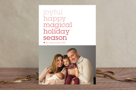 Wordsmith Holiday Photo Cards