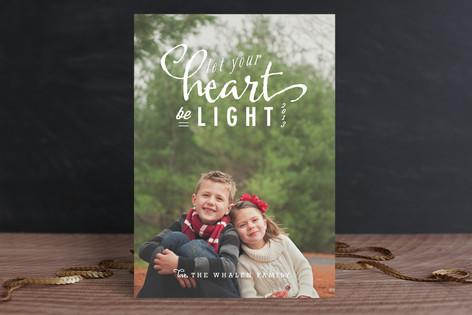 Light Heart Holiday Photo Cards