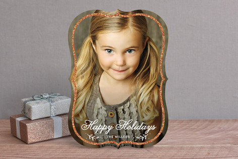 Sparkling Frame Holiday Photo Cards