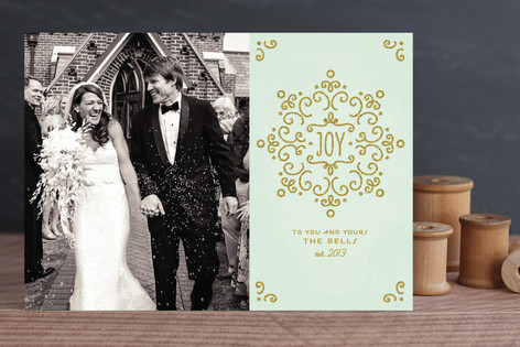 Snow Fancy Holiday Photo Cards