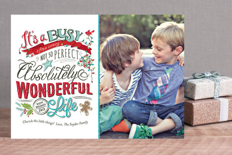 Perfectly Wonderful Holiday Photo Cards