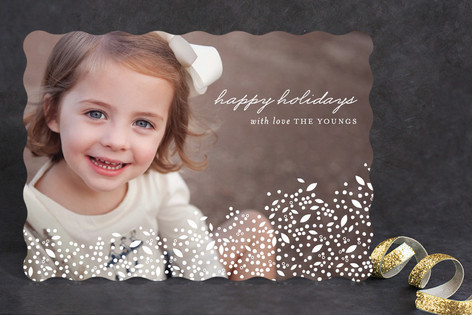 Beautiful Snowfall Holiday Photo Cards