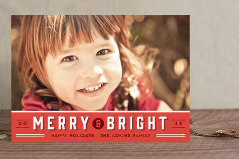 Retro Merry Holiday Photo Cards