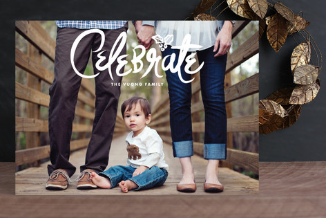 Reason to Celebrate Holiday Photo Cards