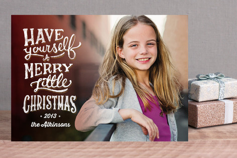 A Little Merry Christmas Holiday Photo Cards