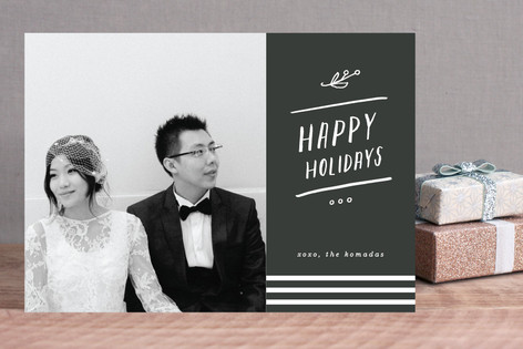 Lettered Chic Holiday Photo Cards