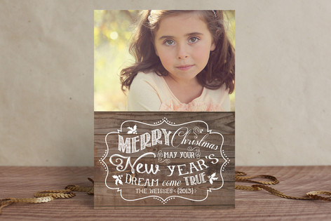 New Year's Dream Holiday Photo Cards