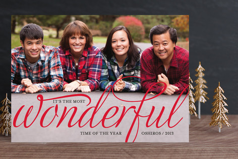 Wonderful Merry Holiday Photo Cards