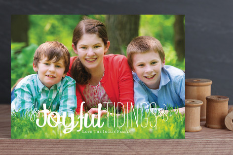 Joy and Tidings Holiday Photo Cards