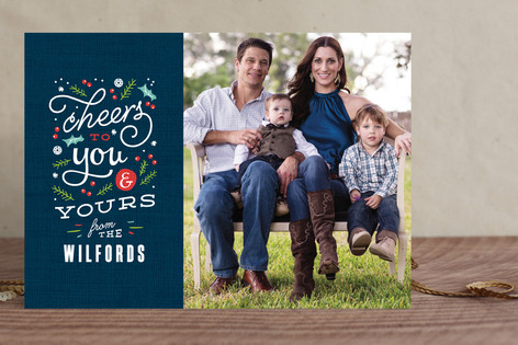 Bright Cheers Holiday Photo Cards