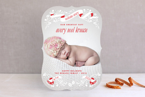 An Angel is Born Holiday Photo Cards