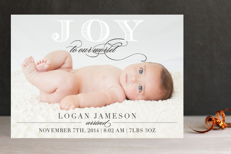Baby Joy to Us Holiday Photo Cards