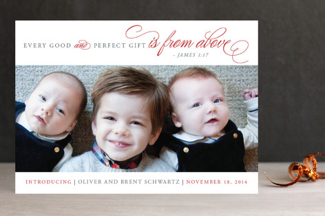 Perfect Gift Holiday Photo Cards