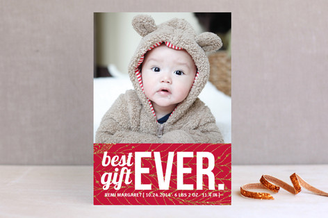 Bestest Gift Ever Holiday Photo Cards